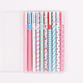 Colorful Star Flower Garden Gel Pen For School, Office Writing Stationary