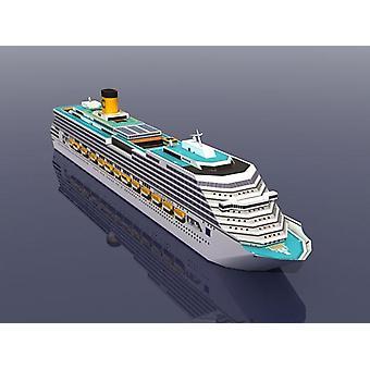 كوستا باسيفيكا سفينة سياحية، 3D ورقة نموذج لغز لعبة