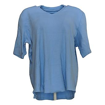 Isaac Mizrahi Live! Women's Top Essentials V-Neck Tunic Blue A289635