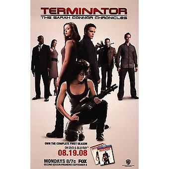 Terminator Sarah Connor Chronicles - tyyli D elokuvajuliste (11 x 17)