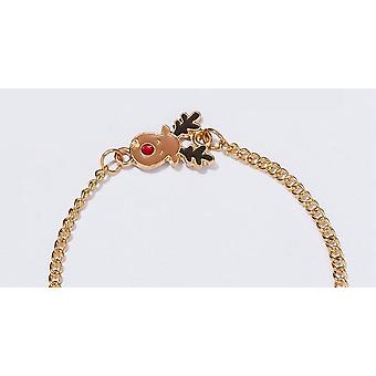 Beautiful fun bracelet pure Christmas rudolf with red overcast