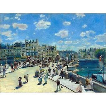 Pont Neuf Paris Poster Print von Pierre-Auguste Renoir
