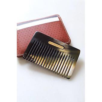 Chai Buffalo Horn Taskukokoiset hiukset / Partakampa
