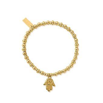 ChloBo GBDS2070 Золотой тон Didi Sparkle Хамса ручной браслет