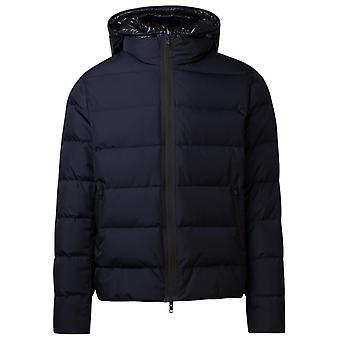 Fay Nam32410270qkju808 Men's Blue Nylon Down Jacket