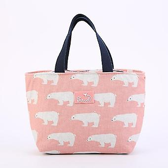 Lunch Bag Cartoon Kids Bento Cooler Bags Flamingo Thermal Breakfast Food Box