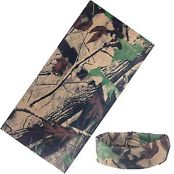 New Multi-functional Bandana Headband Ring Neck Scarf Camouflage Leaves Face