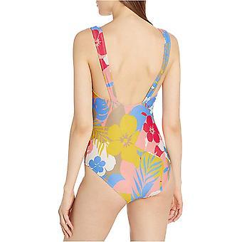 Marque - Mae Women's Swimwear Knot Strap Deep V One Piece Maillot de bain (pour...
