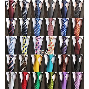 Classic Ties For Man Silk Tie Luxury Striped Plaid Checks Business Neck Suit