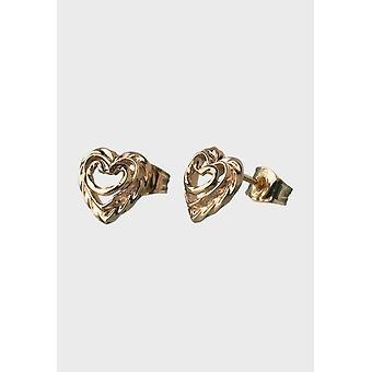 Kalevala Earring Women's Heart of the House 14K Gold 1665000T
