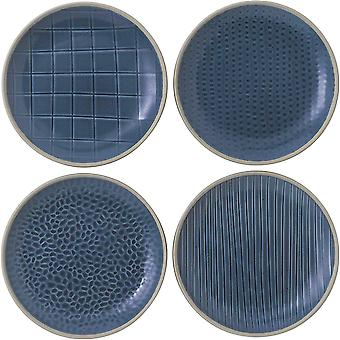 Royal Doulton Gordon Ramsay Maze Grill 40034515 16cm Side Plate Set of 4 Blue