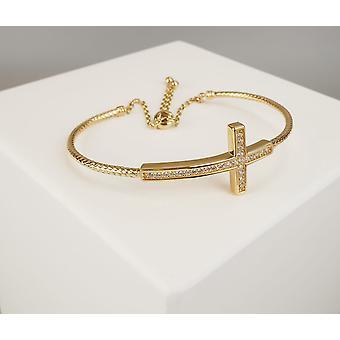 18 carat gold bracelet with cross