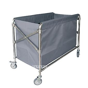 Folding Trolley Stainless Steel Hotel Clean Storage Car Dirty Clothes Cart