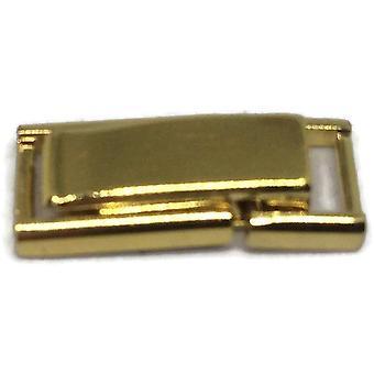 Correa de reloj pulsera cierre de pliegue que expande 5mm chapado en oro