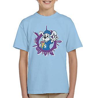 Slush Puppie Distressed World Background Kid's T-Shirt