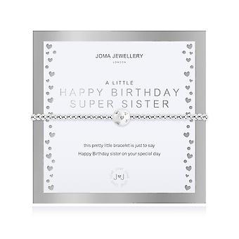 Gioielli Joma Un piccolo buon compleanno Super Sorella Argento 17.5cm Bracciale stretch 4325