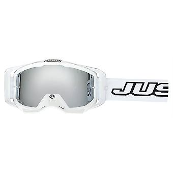 Just1 Iris Solid White MX Goggles