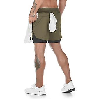 Zomer Running Shorts, 2 In 1 Sports Jogging Fitness Shorts