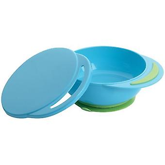 Playgro Blue Bowl Plate with Suction Cup and Lid