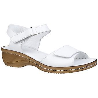 Fleet & Foster Linden Womens Ladies Comfort Sandals White UK Size