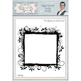 Sentimentally Yours Inkspirational Leafy Frame Pre Cut Stamp