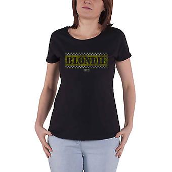 Blondie T Shirt Taxi Debbie Harry Band Logo new Official Womens Skinny Fit Black