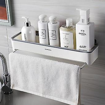 رفوف اكسسوارات الحمام الجدار محمولة على ثقب المرحاض دش غرفة رف المطبخ الغرور متعددة الوظائف التخزين