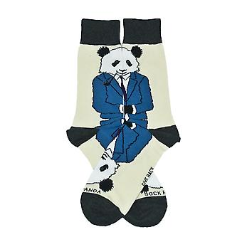 Dignified Reflective Panda Wearing a Suit Socks (Adult Large)