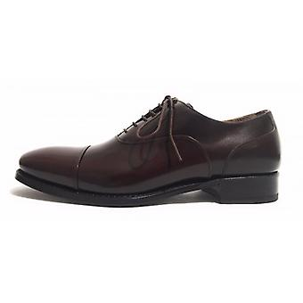 Men's Shoes Harris Anniversary Francesina Dot Dark Leather Handmade Us14ha01