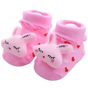 Newborn Baby Anti-slip Cotton Leg Warmers Striped Sock