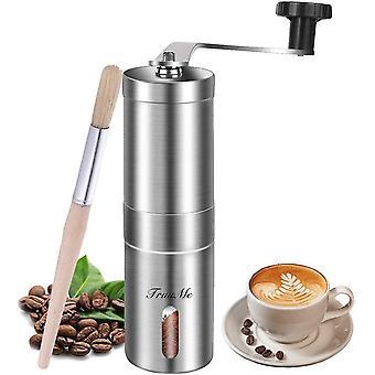 Manual Coffee Grinder, Burr Coffee Grinder, Stainless Steel Coffee Grinder, Adjustable Ceramic