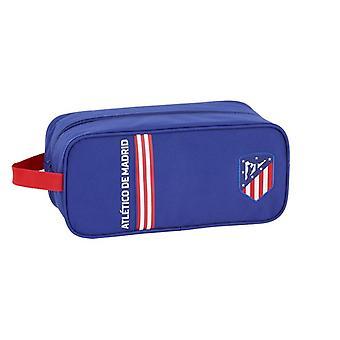 Soporte de zapatilla de viaje Atlético de Madrid en azul poliéster azul marino