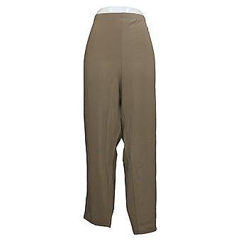Susan Graver Women's Petite Pants Essentials Lustra Knit Beige A240112