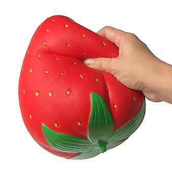 Hidas rebound ylis koko mansikka squishy, stressiä lievittävä lelu lapsille, aikuinen