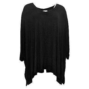 Laurie Felt Women's Top Fuse Modal Ribbed Knit Pullover Black A392627