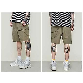Solid Color Function Multi-bag Men's Casual Tooling Shorts