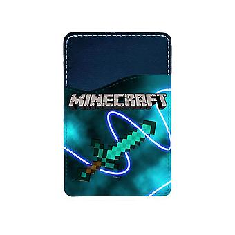 Minecraft Diamond Sword Adhesive Card Holder For Mobile Phone