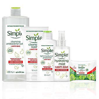Lavage simple de nettoyage anti-bac, protègent la brume, les lingettes, l'humidité légère, et l'eau micellar