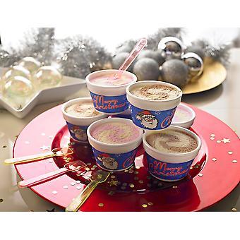 Cooldelight Strawberry Vanilla Christmas Ice Cream Pots