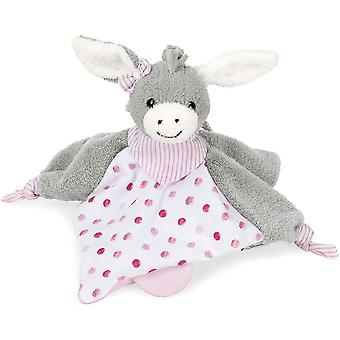 FengChun Schmusetuch Emmi Girl, Alter: Fr Babys ab dem 1. Monat, Gre: 26 cm, Farbe: Grau/Pink