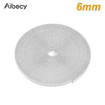 Aibecy 3D Drucker Teile 10 Meter weiß GT2 Zahnriemen offen PU Synchrongürtel Breite 6mm
