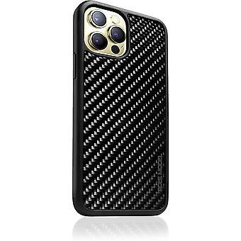 FengChun - KOHLI Handytasche, Handyhülle Cover aus Kohlenstofffaser Carbon mit Klarlack Versiegelung,