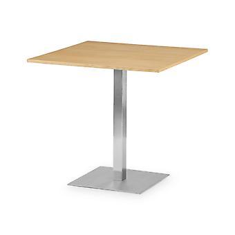 Wisp Square Pedestal Table Oak