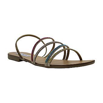 Steve Madden Kvinner svømmer Peep Toe Casual Slide Sandals