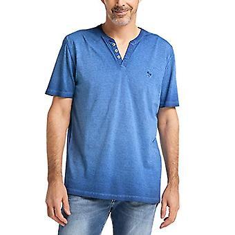 Pioneer T-Shirt Henley, Blue (Nautic-Blue 568), L Man