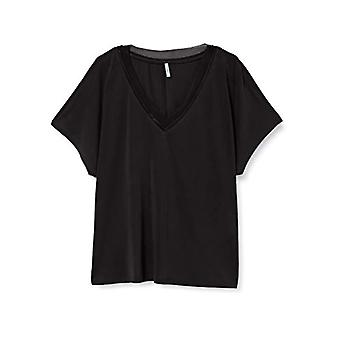 Bare ONLFREE Life S/S Mix V-Neck Top Jrs T-skjorte, Svart, S Kvinne