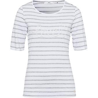 BRAX Cora T-Shirt, Grey (Silver Grey Mel. 8), 50 Woman