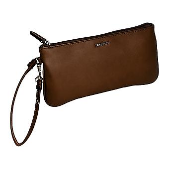 Nueve west solid wristlet brown bolso A447340