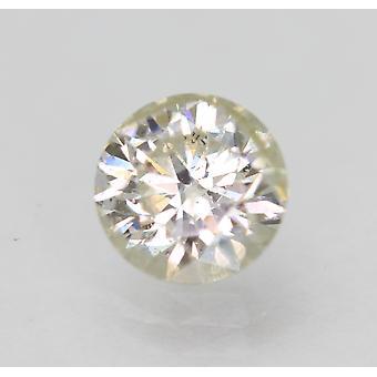 Sertifioitu 0,94 karat I SI2 pyöreä brilliant parannettu luonnollinen löysä timantti 6,2mm