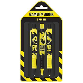 Pyramid International Gamer At Work Varoitusmerkkikynäsarja (pakkaus 3)